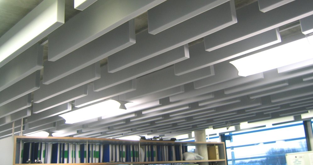 Schallabsorber für Thermo-Betondecken