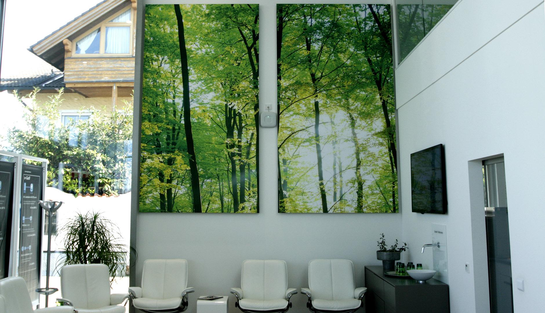 Akustikbilder mit individuellem Motiv an der Wand