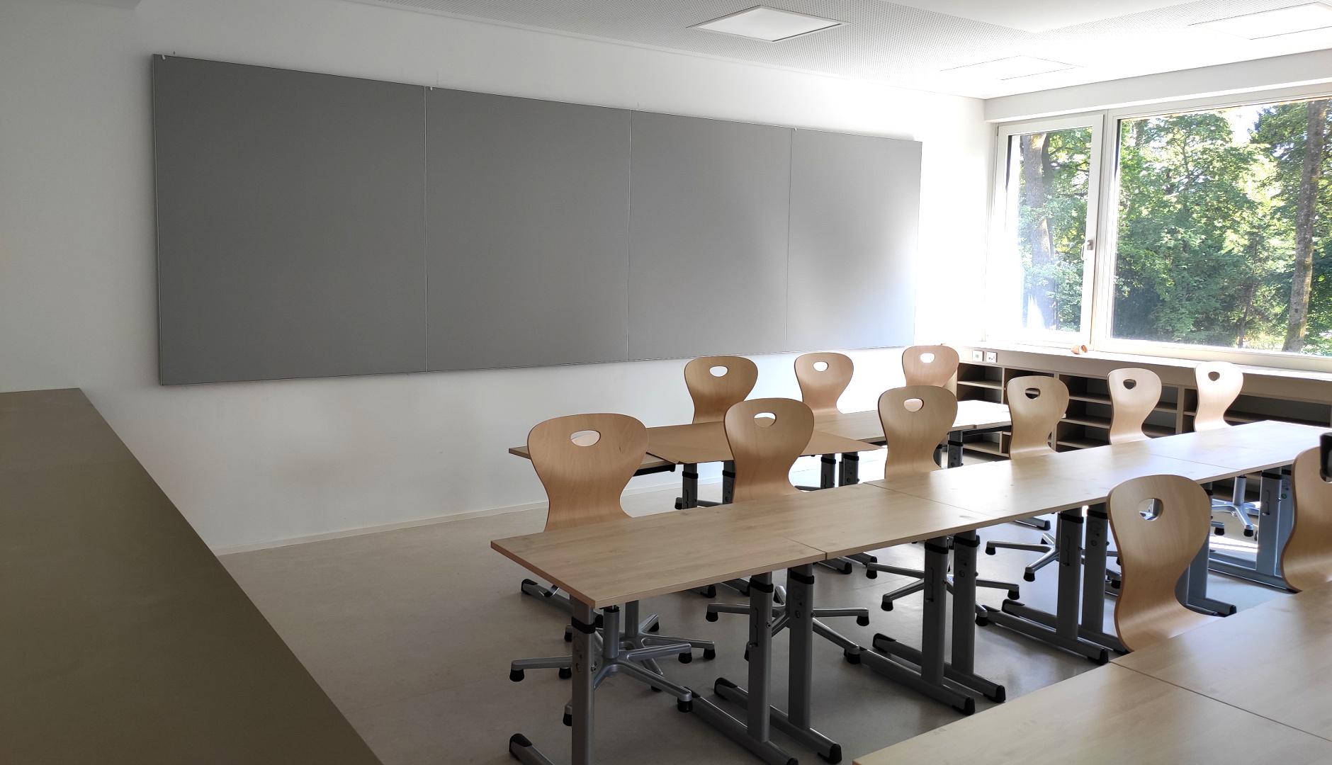 Rehrl Schule Salzburg, Wandabsorber als Rückwandpaneel