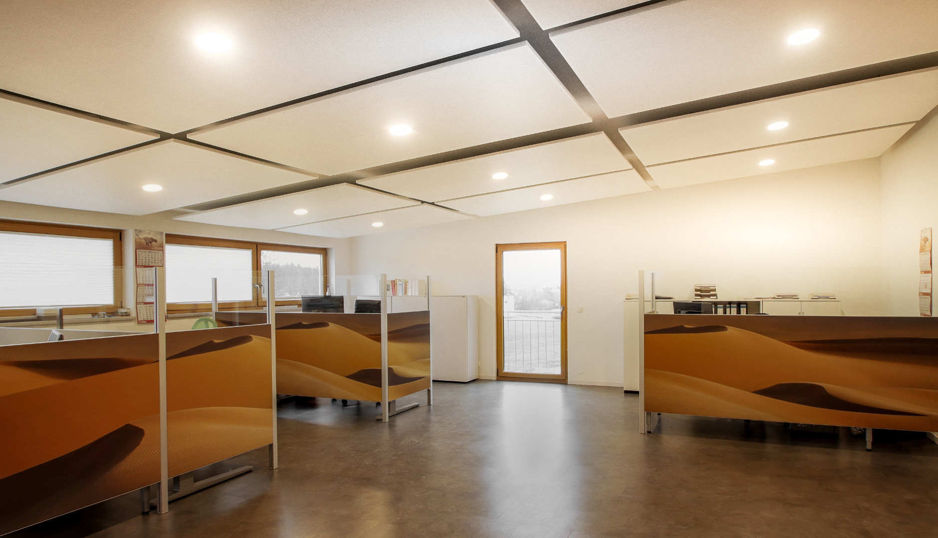 FleXX Akustik Trennwand im Büro